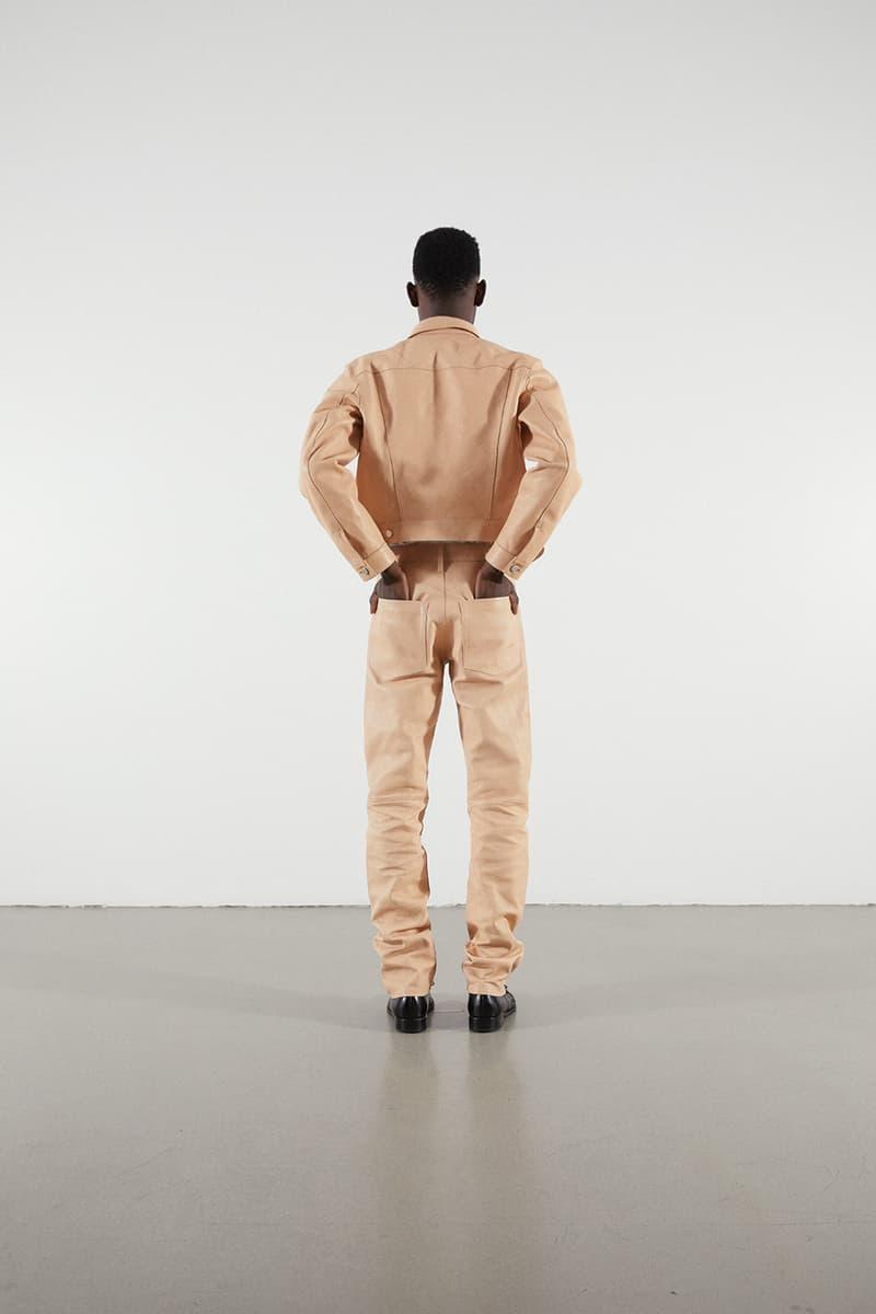 Helmut Lang Jeans Under Construction Capsule Lookbook Leather Jacket Pants Tan