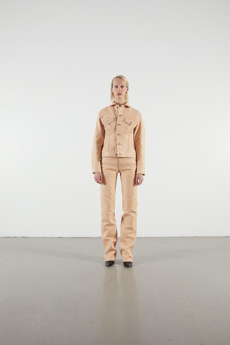 Helmut Lang Jeans Under Construction Capsule Lookbook Leather Pants Jacket Tan