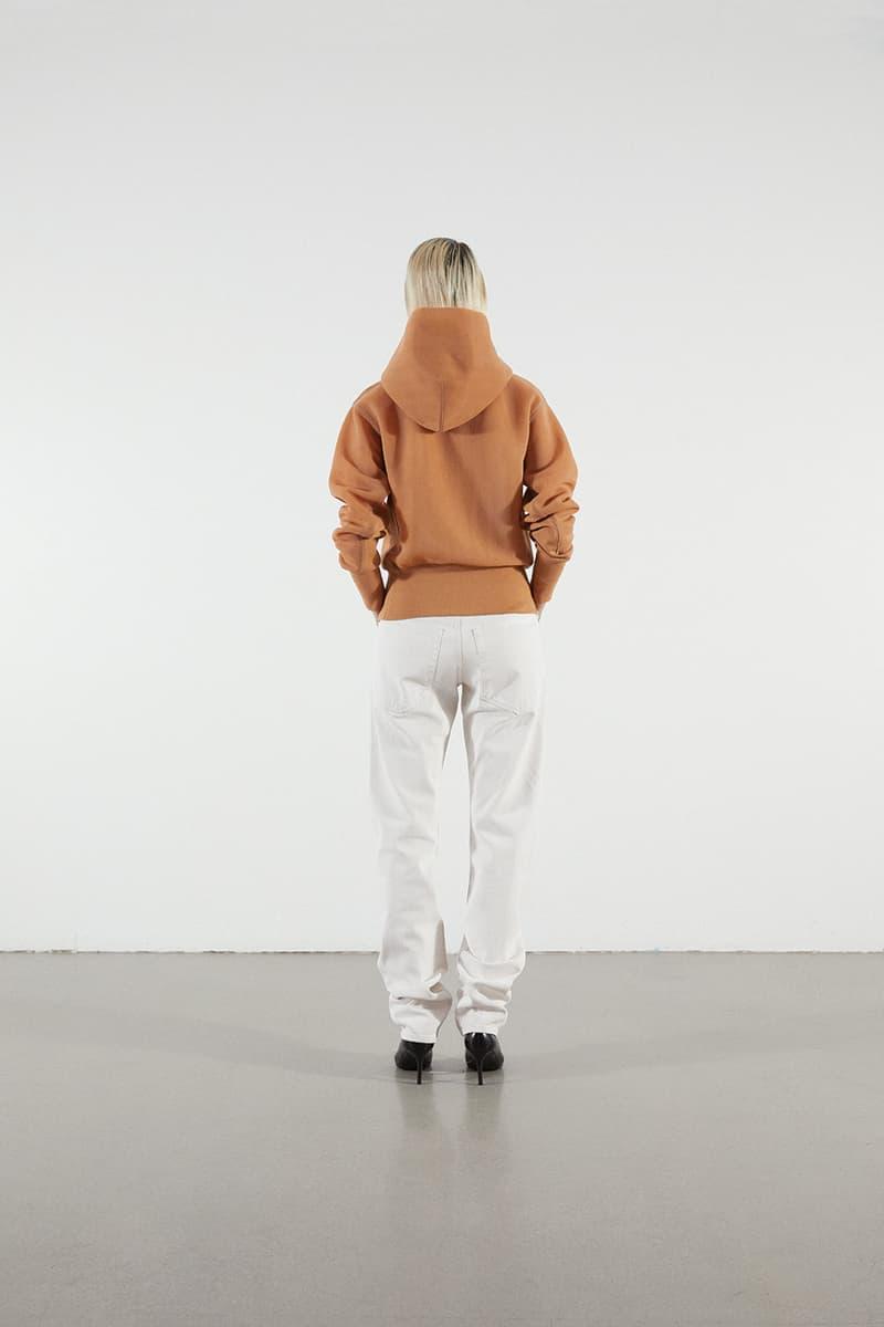 Helmut Lang Jeans Under Construction Capsule Lookbook Hoodie Tan Denim White