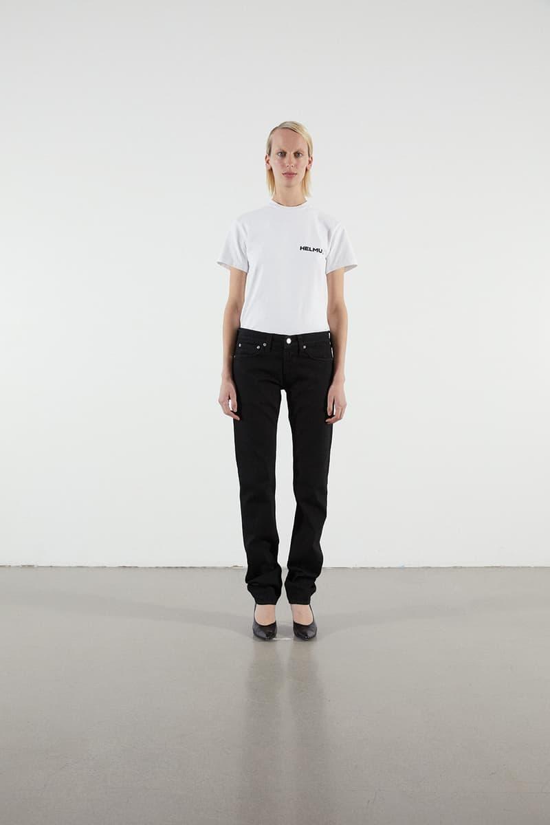 Helmut Lang Jeans Under Construction Capsule Lookbook T-shirt White Denim Black