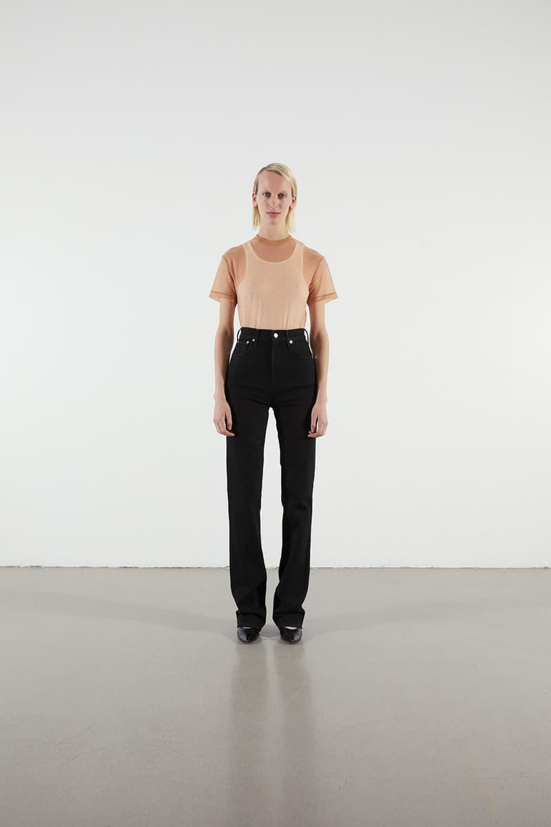 Helmut Lang Jeans Under Construction Capsule Lookbook Shirt Tan Denim Black
