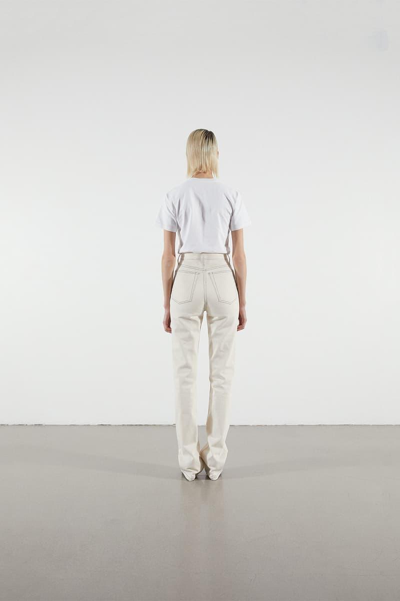 Helmut Lang Jeans Under Construction Capsule Lookbook T-shirt White Denim Cream