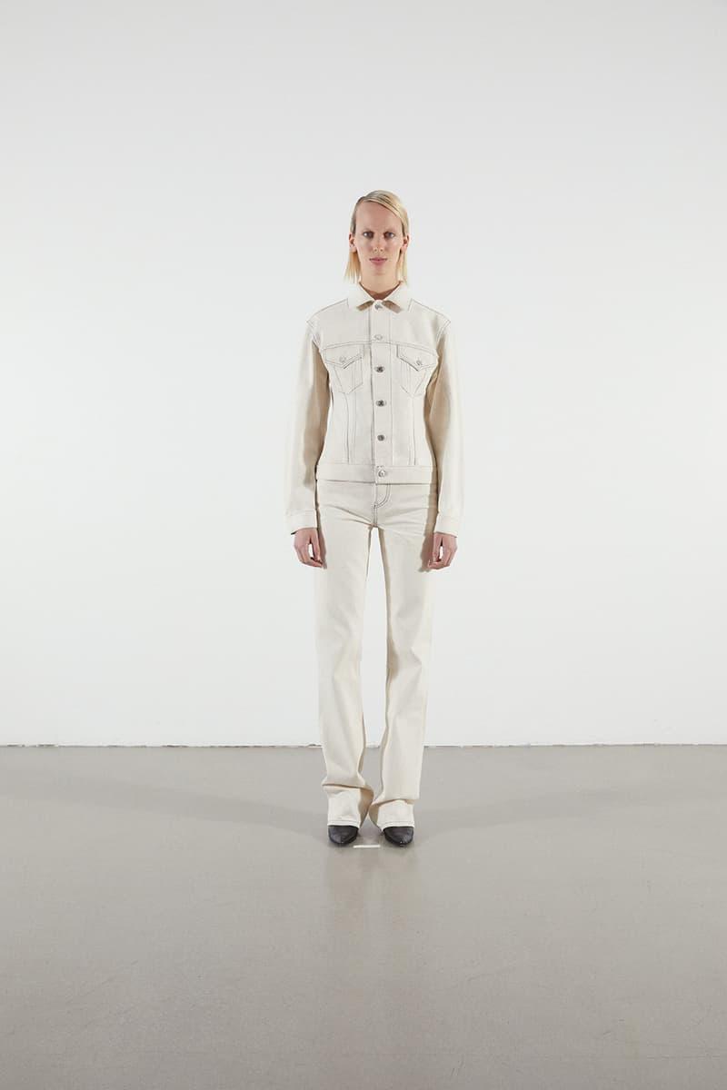 Helmut Lang Jeans Under Construction Capsule Lookbook Denim Jacket Pants Cream