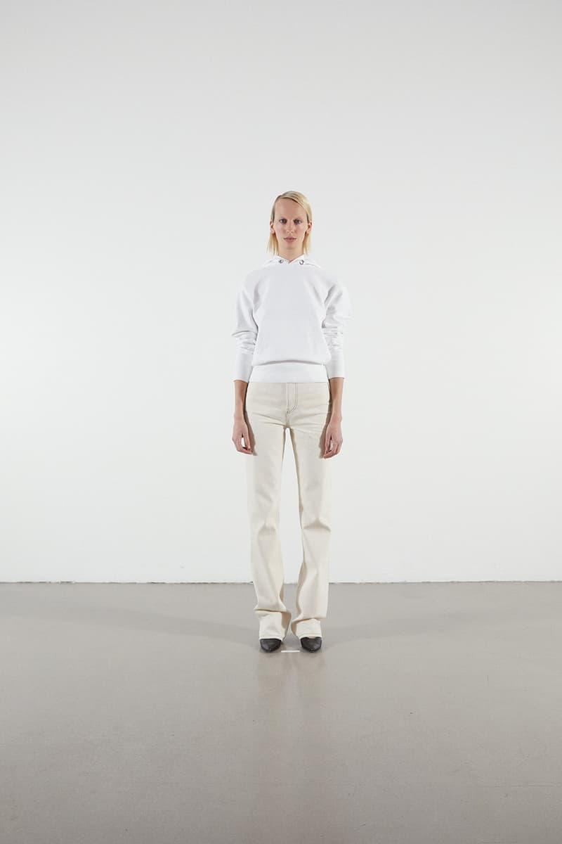 Helmut Lang Jeans Under Construction Capsule Lookbook Hoodie White Denim Cream