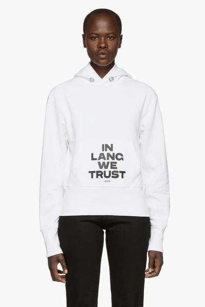 Helmut Lang Hoodie Black Red White Brian Roettinger