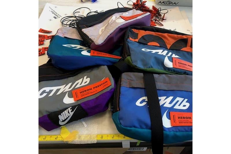 Heron Preston x Nike Bags Blue Grey Purple Orange