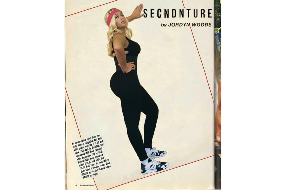 Jordyn Woods Secndnture Activewear Collection Strappy Logo Bra Waist Training Legging Black