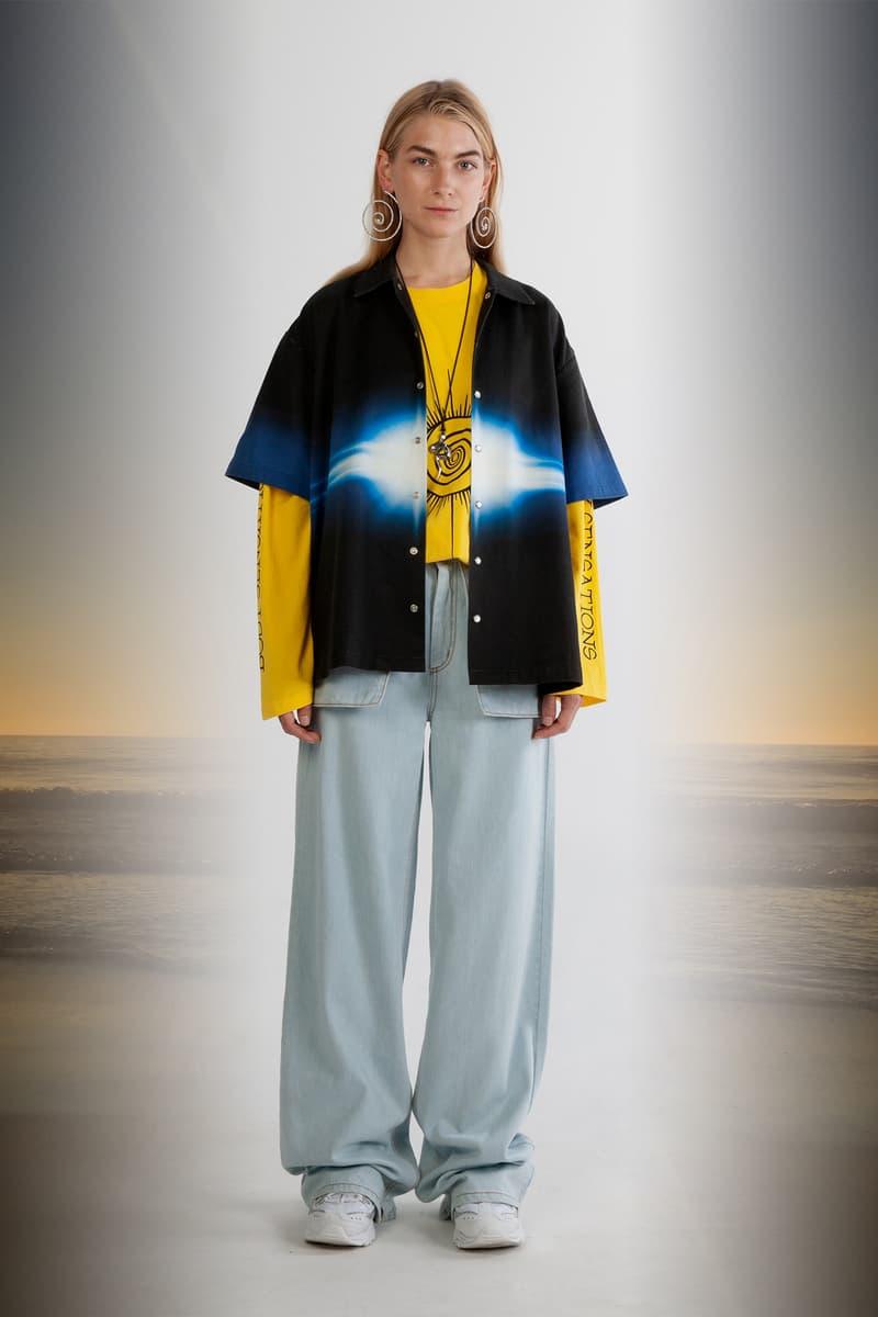 Julia Seeman Fall/Winter 2018 Collection Lookbook Area 51 Shirt Black Blue Body Sensations Tee Yellow
