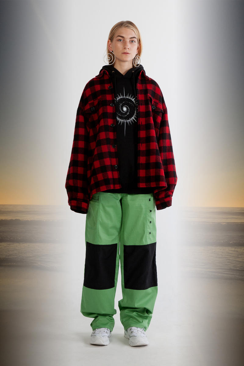 Julia Seeman Fall/Winter 2018 Collection Lookbook Plaid Shirt Red Hoodie Black Pants Green