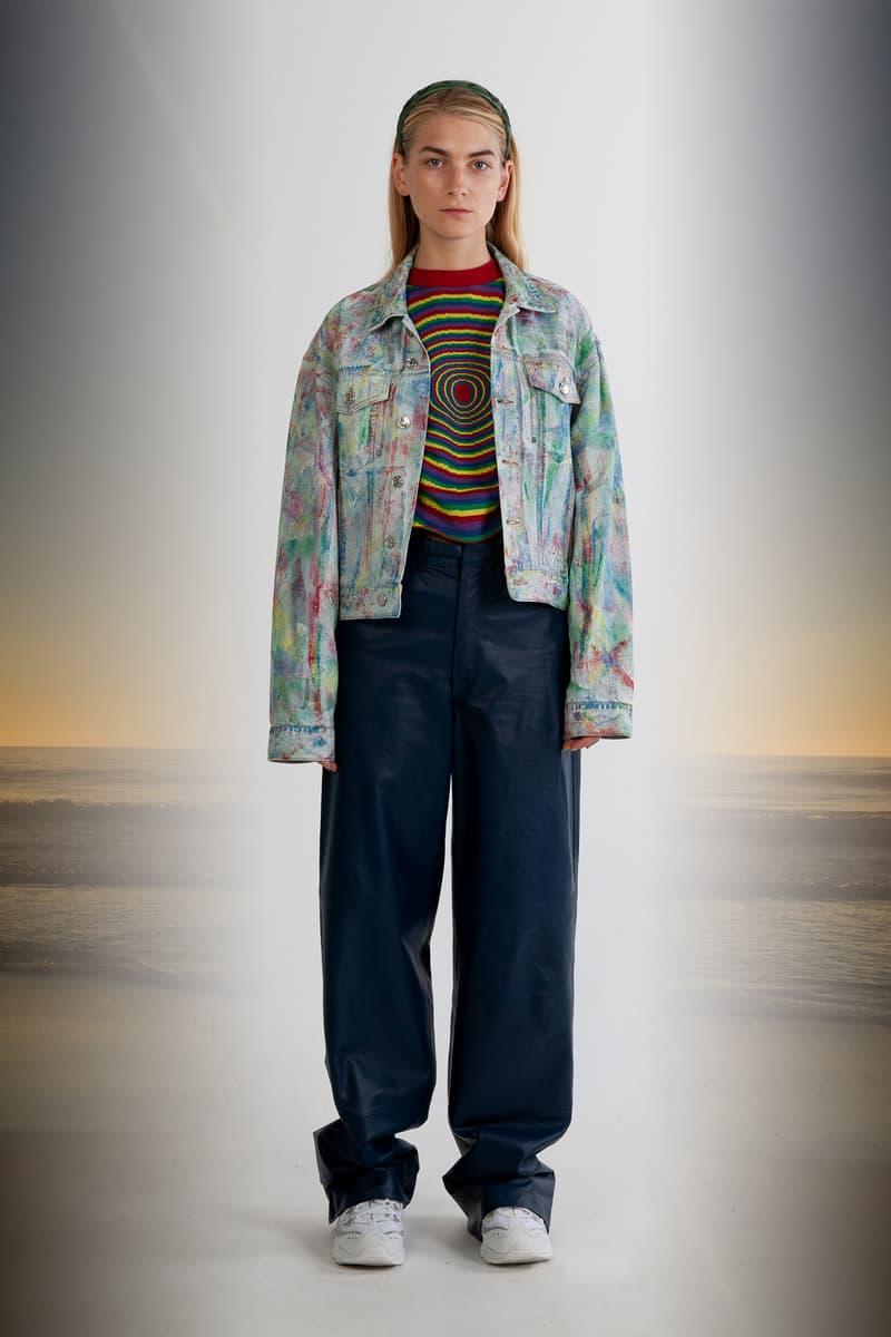 Julia Seeman Fall/Winter 2018 Collection Lookbook Multicolor Handpainted Denim Jacket Blue Pants Navy
