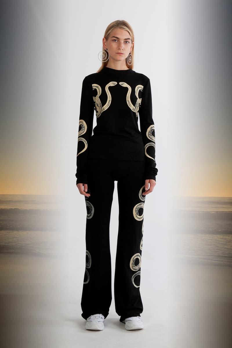 Julia Seeman Fall/Winter 2018 Collection Lookbook Long Sleeve Shirt Trousers Black