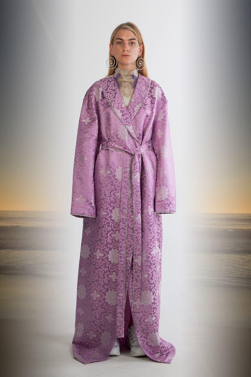 Julia Seeman Fall/Winter 2018 Collection Lookbook Swarovski China Town Coat Purple