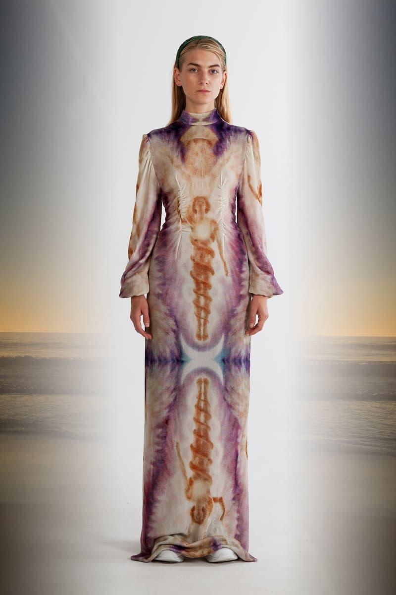 Julia Seeman Fall/Winter 2018 Collection Lookbook Sacred Dress Tan