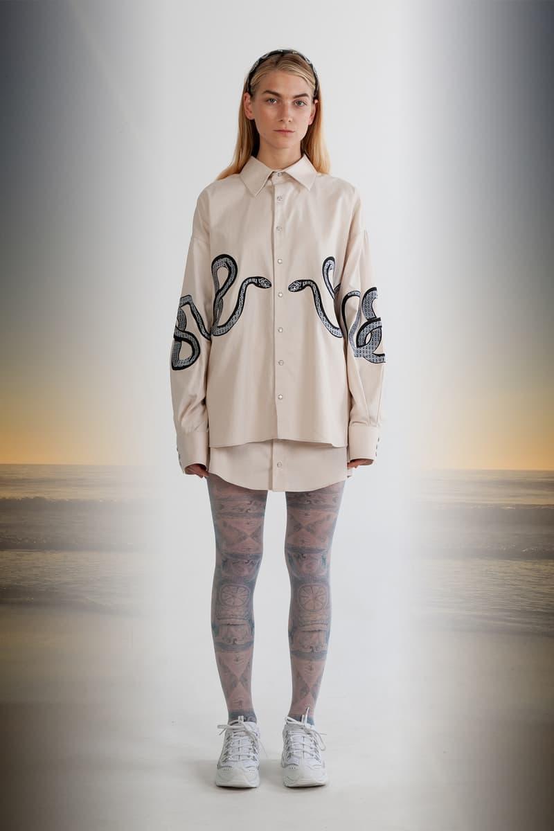 Julia Seeman Fall/Winter 2018 Collection Lookbook Collared Shirt Tan