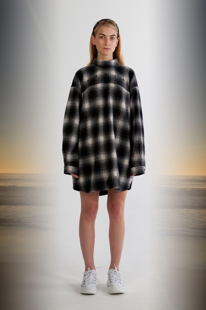 Julia Seeman Fall/Winter 2018 Collection Lookbook Plaid Shirt Black White