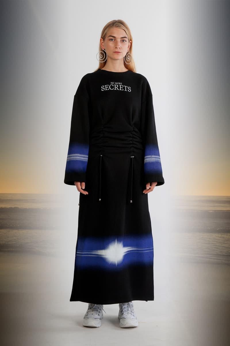 Julia Seeman Fall/Winter 2018 Collection Lookbook Dress Black Blue