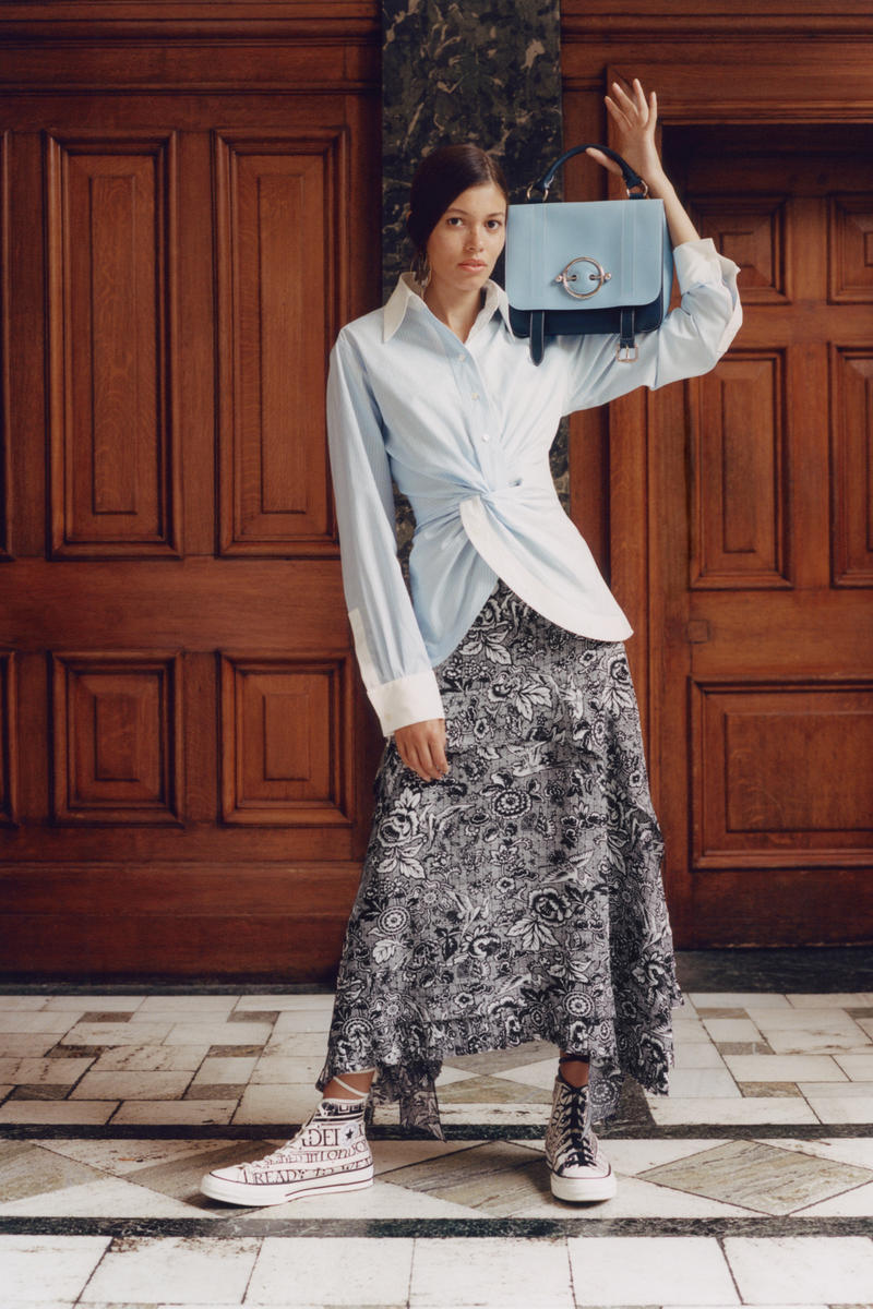 JW Anderson x Net-a-Porter Capsule Collection Top Skirt Disc Shoulder Bag Blue