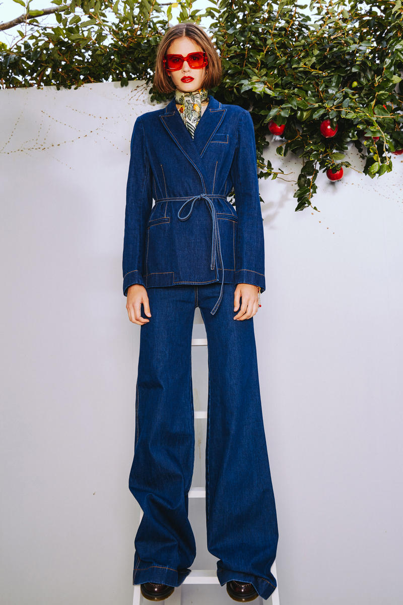 Karen Walker 2018 Spring Summer NYFW Lookbook Jacket Pants Navy