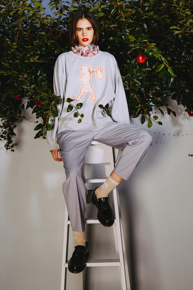 Karen Walker 2018 Spring Summer NYFW Lookbook Sweater Trousers Grey