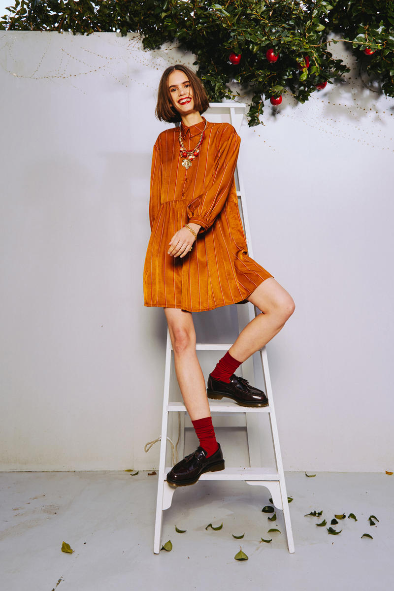 Karen Walker 2018 Spring Summer NYFW Lookbook Dress Brown
