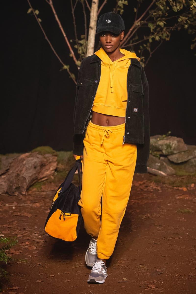 KITH 2018 Fall Winter NYFW New York Fashion Week Herieth Paul Sweatshirt Sweatpants Yellow
