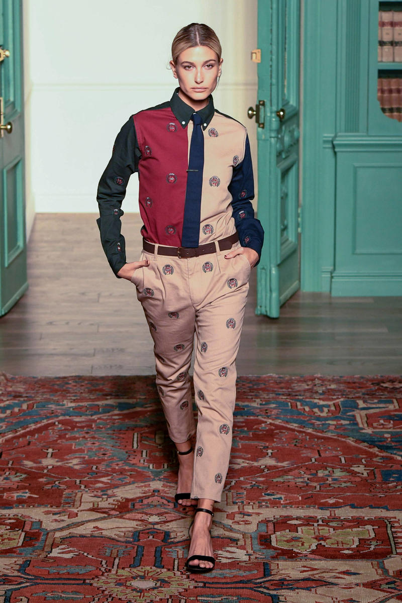 KITH 2018 Fall Winter NYFW New York Fashion Week Tommy Hilfiger Collared Shirt Pants Khaki Navy Maroon