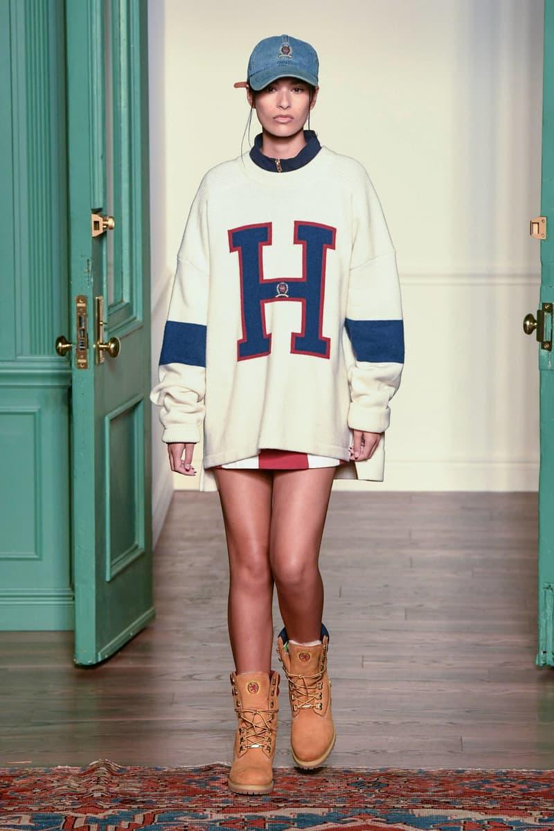 KITH 2018 Fall Winter NYFW New York Fashion Week Tommy Hilfiger Crewneck Sweater White Blue