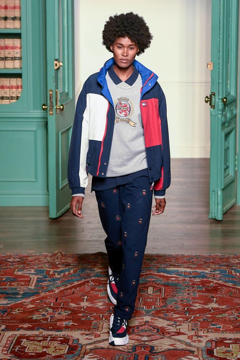 KITH 2018 Fall Winter NYFW New York Fashion Week Tommy Hilfiger Crewneck Sweater Grey Jacket Pants Blue Red