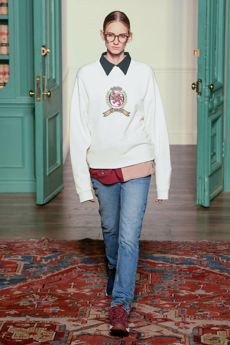 KITH 2018 Fall Winter NYFW New York Fashion Week Tommy Hilifiger Sweater White Jeans Blue