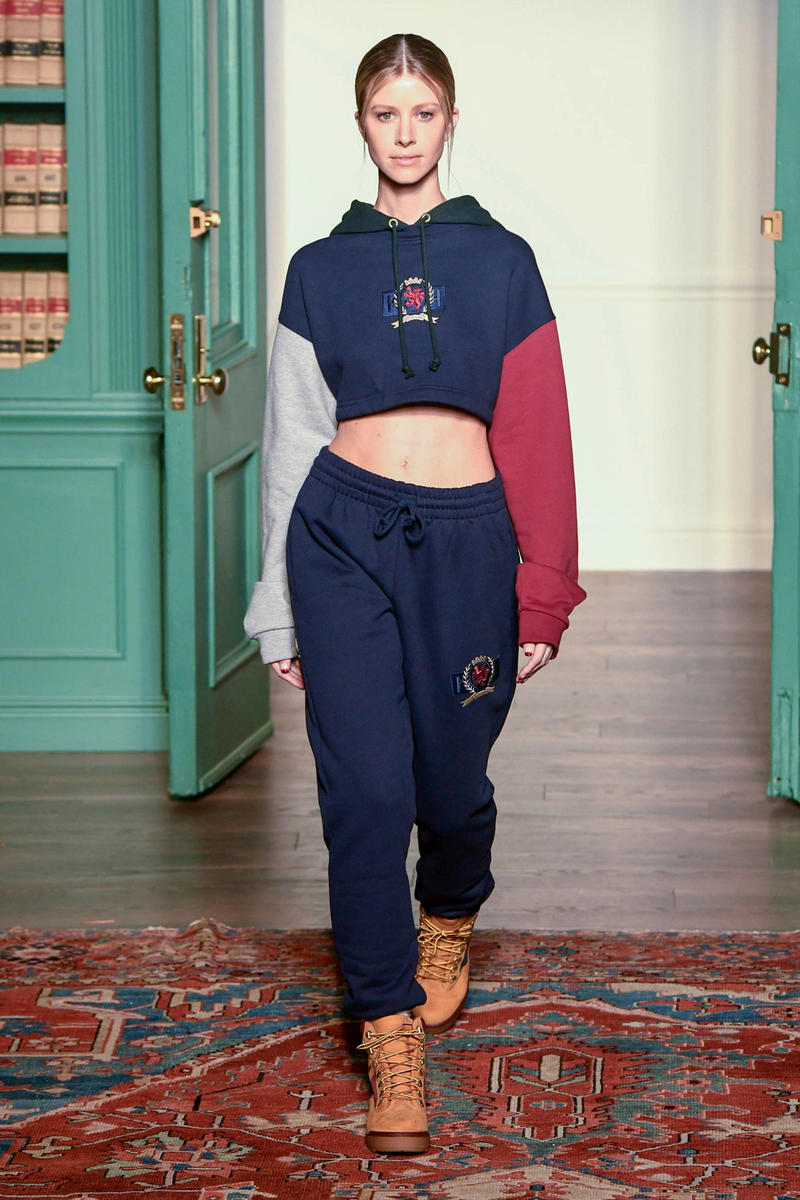 KITH 2018 Fall Winter NYFW New York Fashion Week Tommy Hilfiger Hoodie Pants Navy