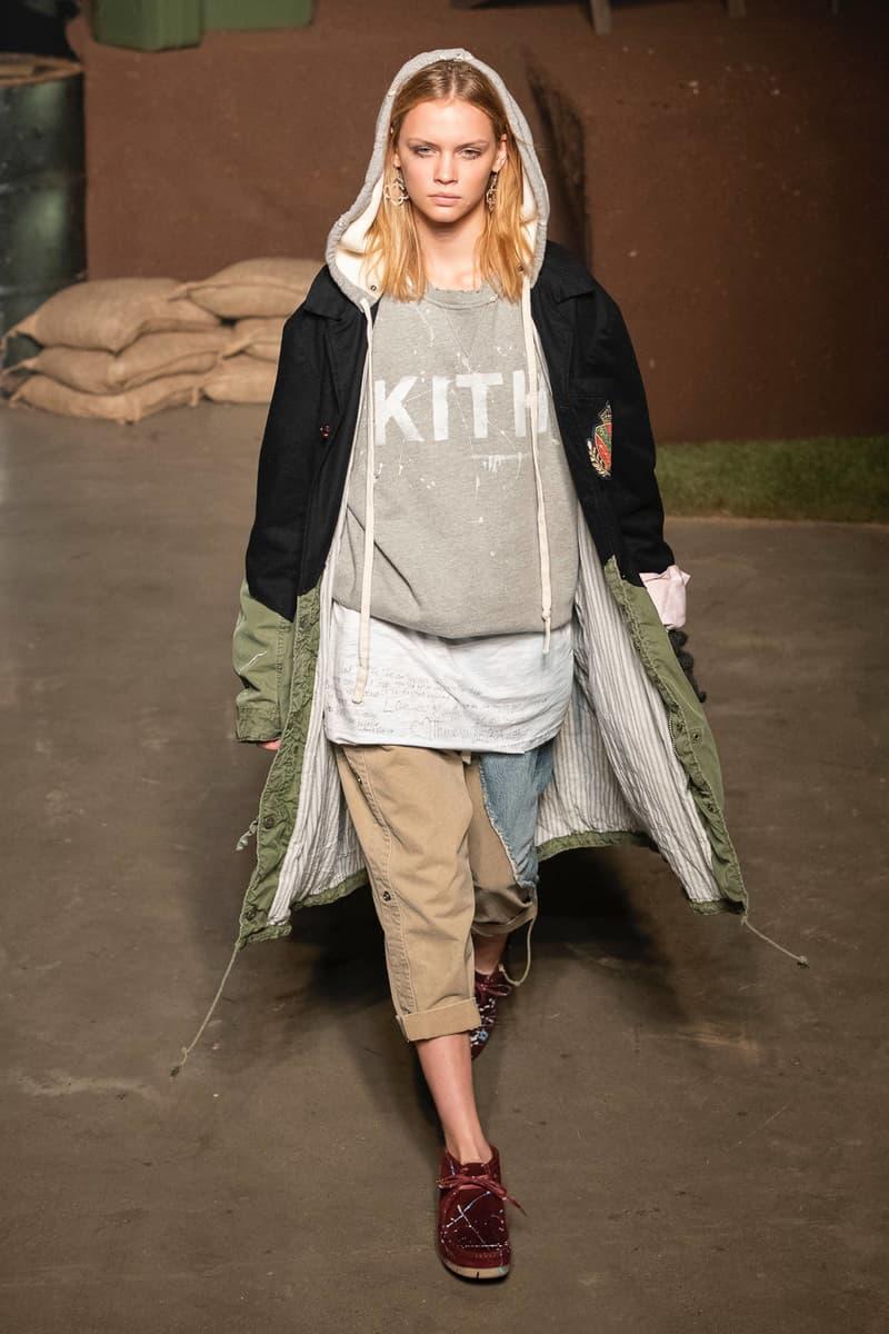 KITH 2018 Fall Winter NYFW New York Fashion Week Greg Lauren Hoodie Grey Pants Khaki Denim
