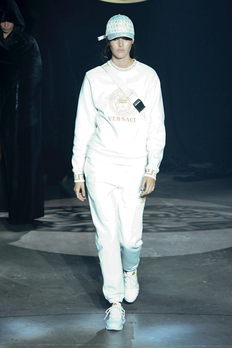 KITH 2018 Fall Winter NYFW New York Fashion Week Versace Crewneck Sweater Sweatpants White