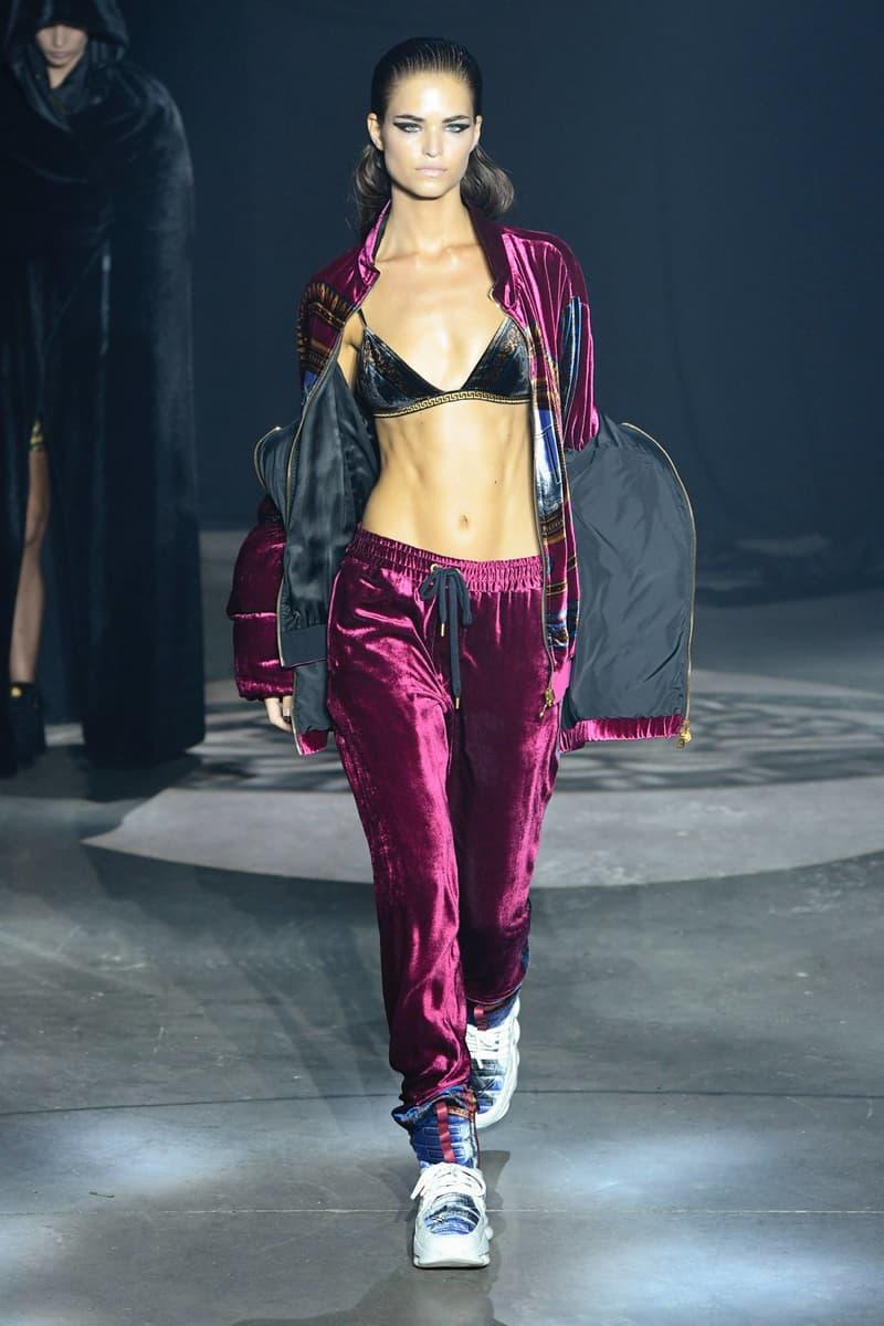 KITH 2018 Fall Winter NYFW New York Fashion Week Versace Bikini Top Black Sweatpants Jacket Maroon