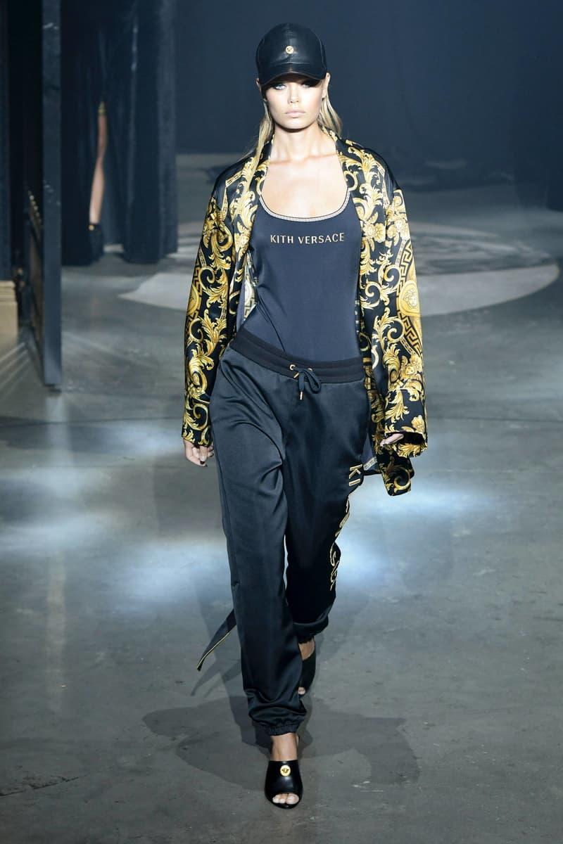 KITH 2018 Fall Winter NYFW New York Fashion Week Versace Top Sweatpants Black