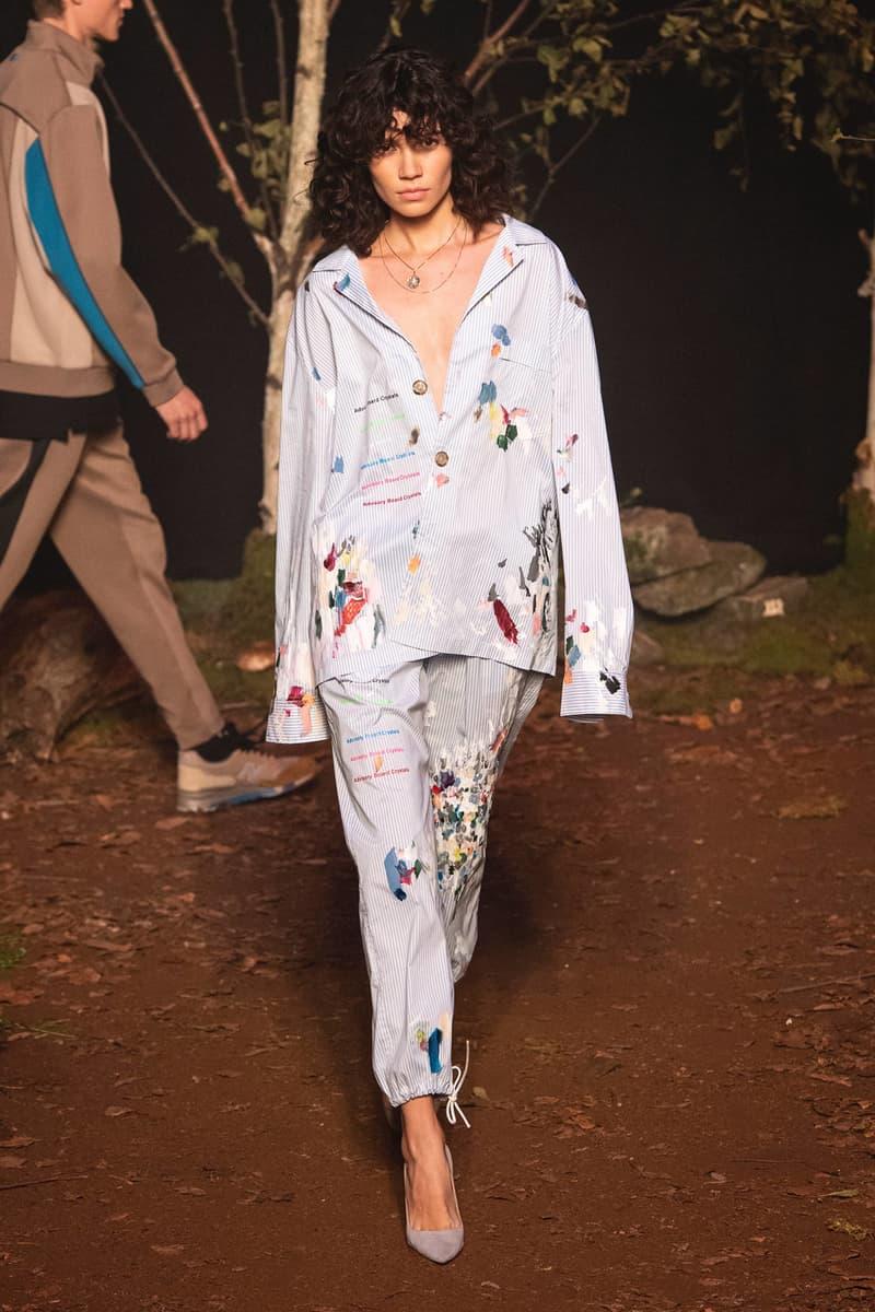 KITH 2018 Fall Winter NYFW New York Fashion Week Collared Shirt Pants Blue