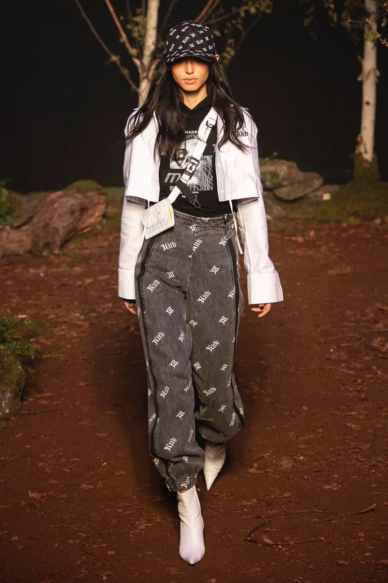 KITH 2018 Fall Winter NYFW New York Fashion Week Jacket White Hat T-shirt Logo Pants Black
