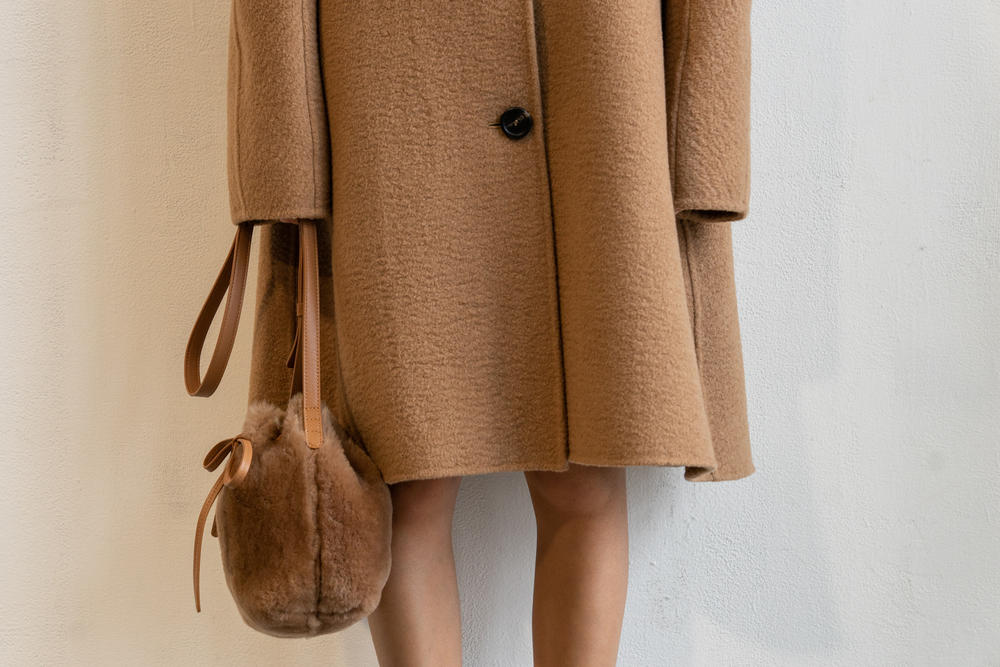 Mansur Gavriel Fall Winter 2018 New York Fashion Week Show Backstage Brown Coat Bag