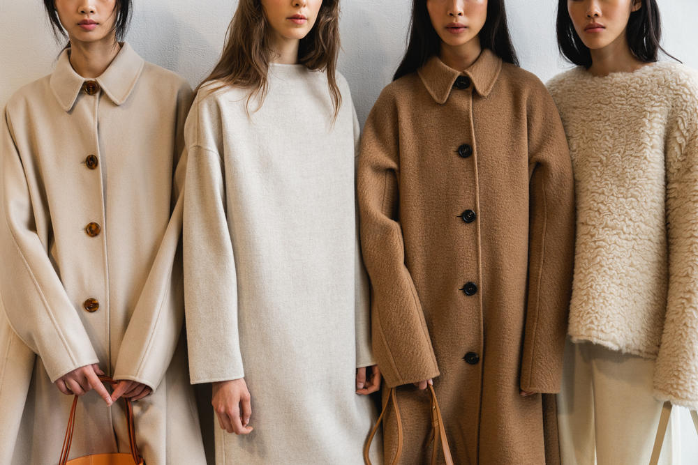 Mansur Gavriel Fall Winter 2018 New York Fashion Week Show Backstage Brown Beige Coats Bags
