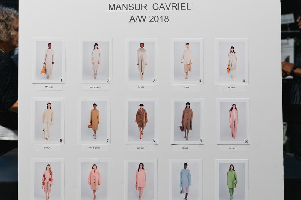 Mansur Gavriel Fall Winter 2018 New York Fashion Week Show Backstage Models