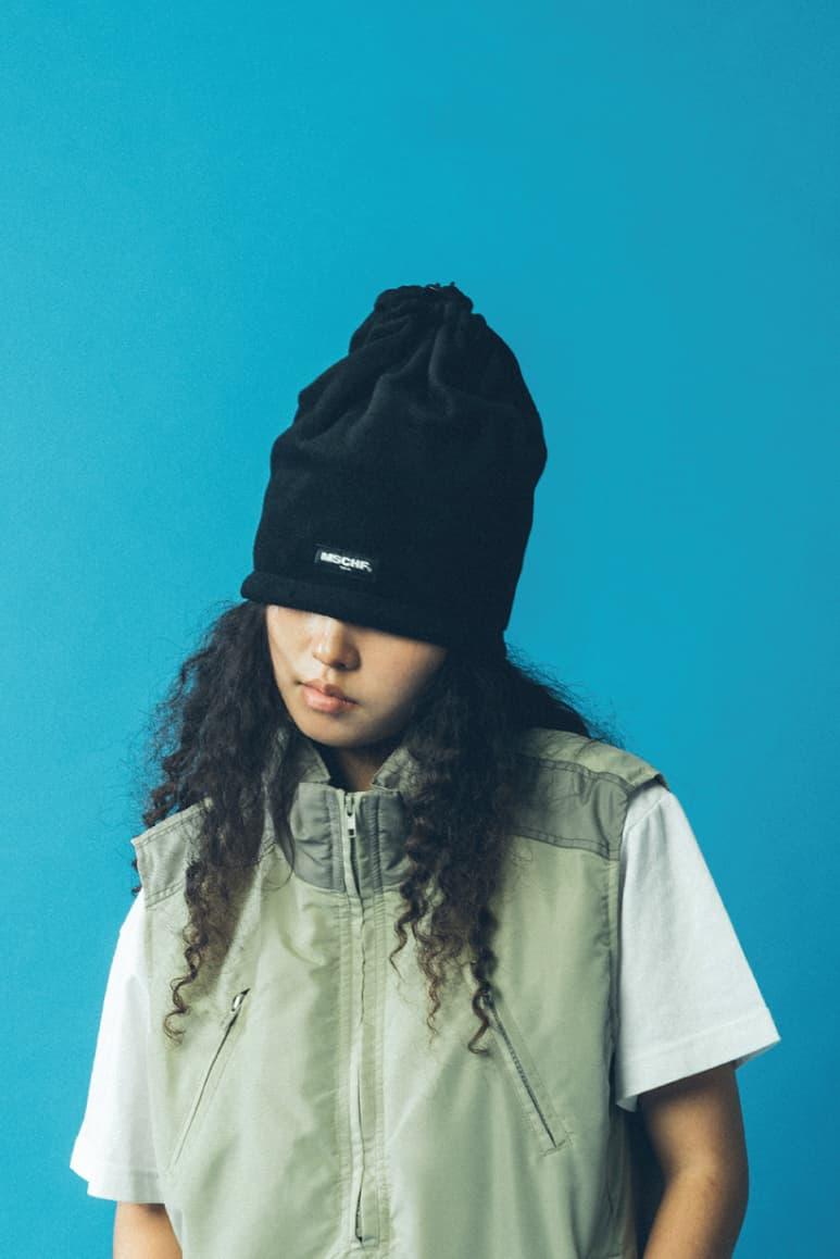 MISCHIEF Fall/Winter 2018 Collection Lookbook Hat Black Vest Green