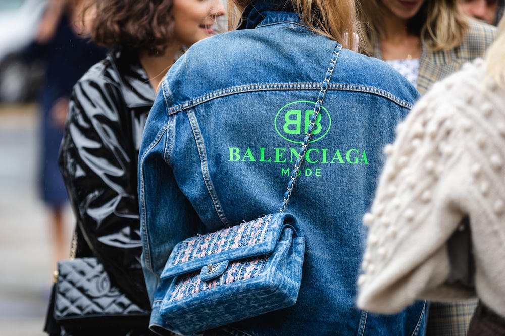 New York Fashion Week NYFW Street Style Street Snaps Balenciaga Jacket Chanel Bag Blue