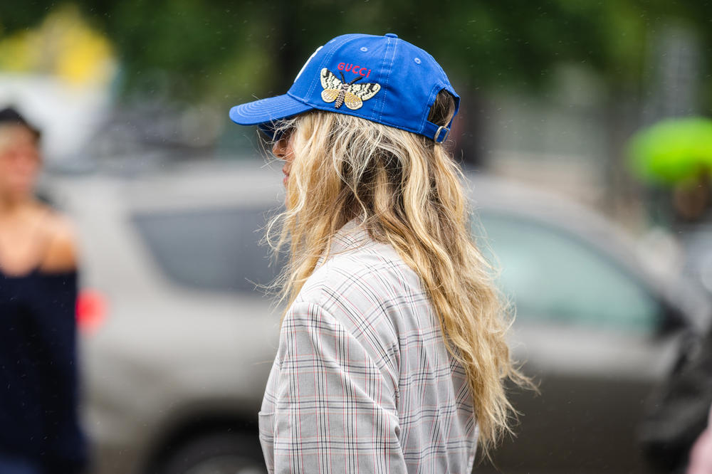 New York Fashion Week NYFW Street Style Street Gucci Hat Blue
