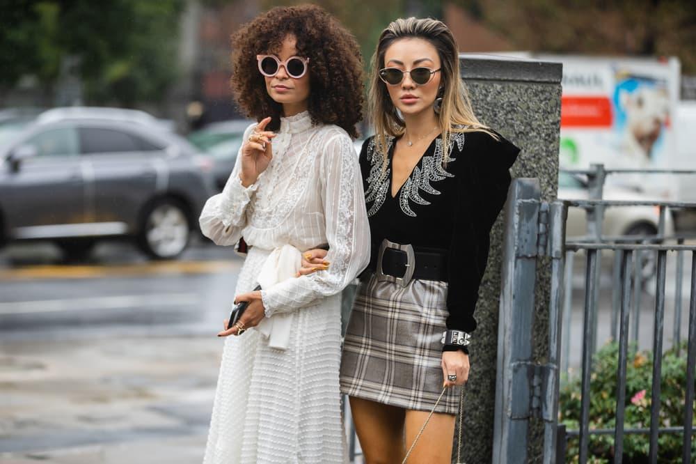 New York Fashion Week NYFW Street Style Street Snaps Dress White Top Black Silver