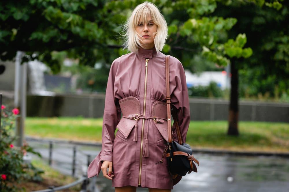 New York Fashion Week NYFW Street Style Street Snaps Dress Maroon