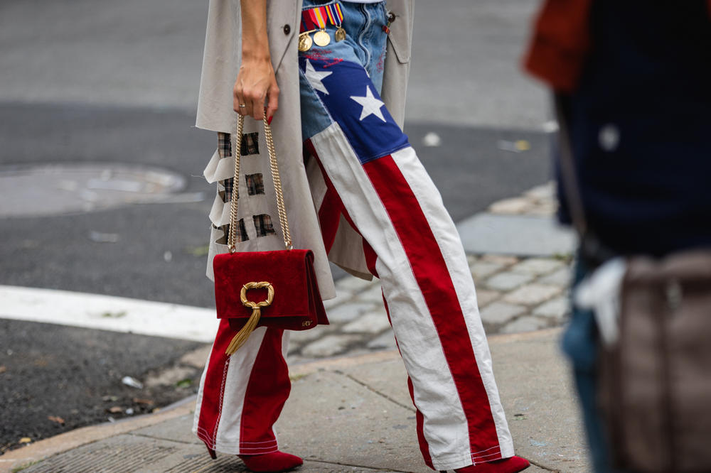 New York Fashion Week NYFW Street Style Street Snaps Pants Red White Blue