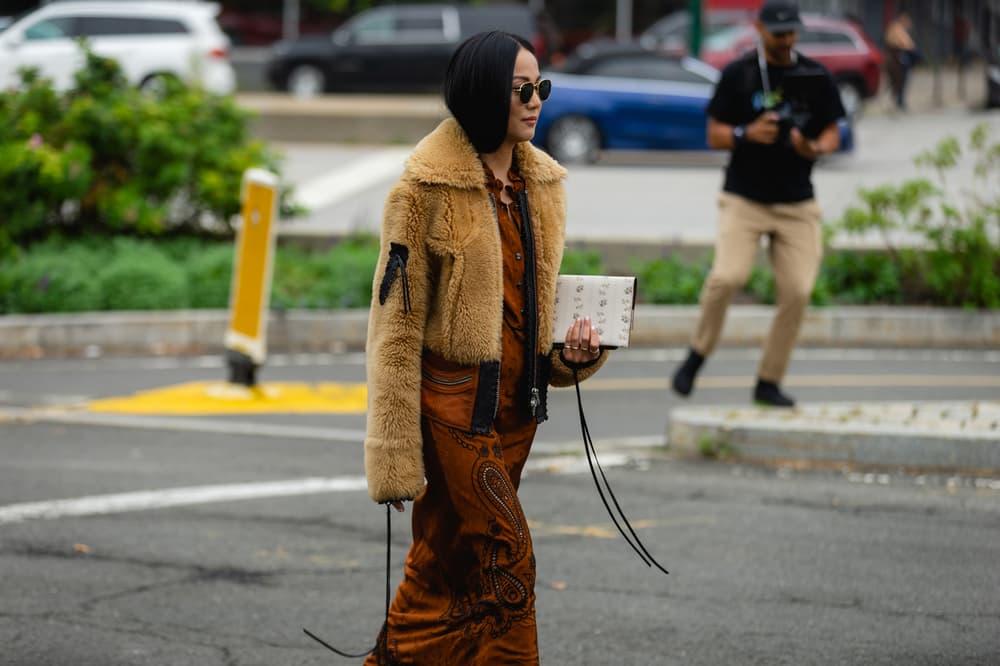 New York Fashion Week NYFW Street Style Street Snaps Jacket Brown