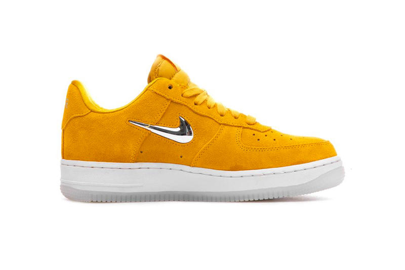 nike air force 1 jewel yellow ochre chrome suede clear outsole fb1d775d4
