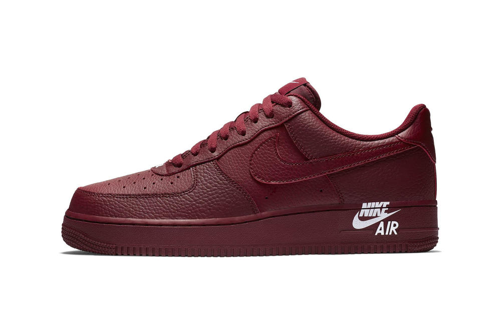 Nike Air Force 1 Logo Stamp Sneaker Sail White Team Red