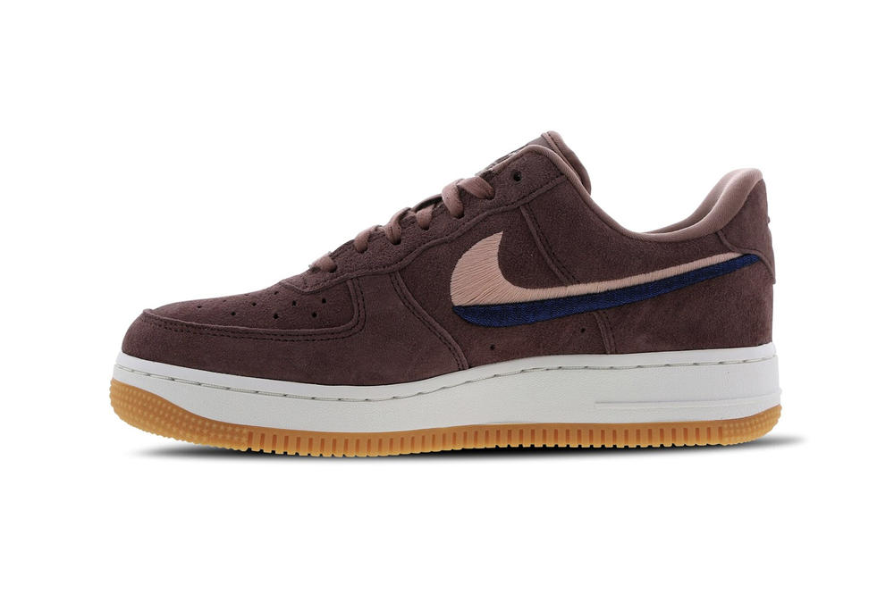 Nike Air Force 1 Smokey Mauve Suede Two Tone Swoosh