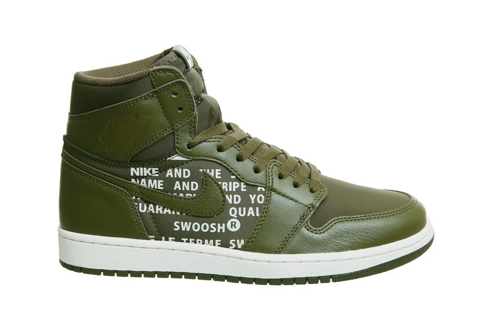 Nike Air Jordan 1 Hi Olive